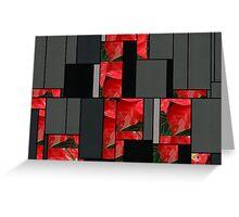 Mottled Red Poinsettia 1 Ephemeral Art Rectangles 7 Greeting Card