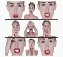 Miley Cyrus faces by Fellax