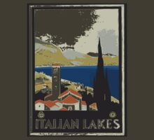 """Italian Lakes"" - Retro Poster by whiteflash"