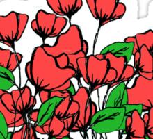 Poppies 2 Sticker