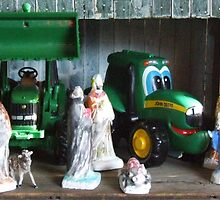 Kids Nativity Scene by Kathy Rogers-Hartley