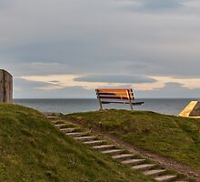 Hopeman's harbour seat. by JASPERIMAGE