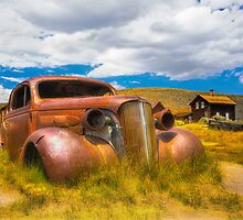 Abandoned Car Chevy in Bodie Ghost Town by Jerome Obille