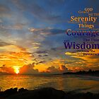 Serenity Prayer Sunset By Sharon Cummings by Sharon Cummings