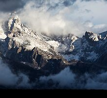 First Snow on the Teton Mountains by cavaroc