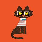 Fritz the preppy cat by Budi Satria Kwan