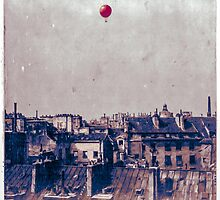 Balloon Over Paris, 1878 by stylings