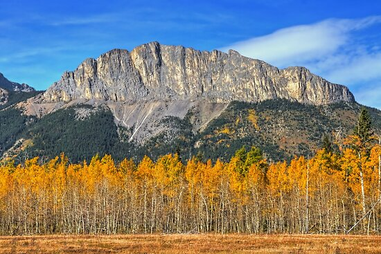 Fall Colors and Mount Yamnuska by JamesA1