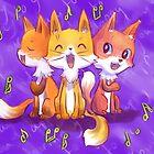 Birthday foxes by Petra van Berkum