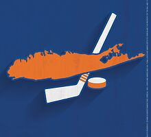 New York Islanders Minimalist Print by SomebodyApparel
