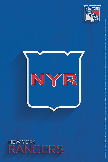 New York Rangers Minimalist Print by SomebodyApparel