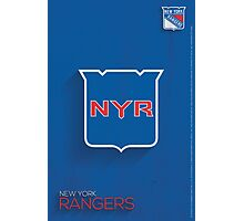 New York Rangers Minimalist Print Photographic Print