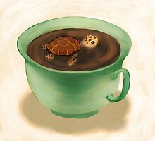 Tea Turtle by Petra van Berkum