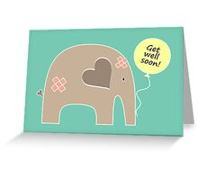 Get Well Soon Elephant Greeting Card