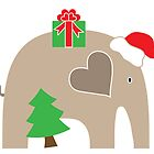 Merry Christmas Elephant by Elephant Love