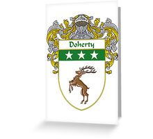 Doherty Coat of Arms/Family Crest Greeting Card