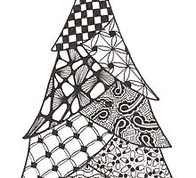 Zentangle Christmas Tree 010 by Ryan Elizabeth Woelfel