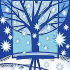 Snowflake Holiday Card by Sue Todd