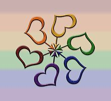 Rainbow Colored Male Gender Symbol Spiral by LiveLoudGraphic