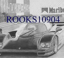 Porsche 962 EXOTIC CAR ART PRINT by rooks10904