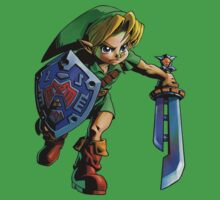 Link with shield by Hyruler