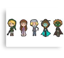 Zelda and co 1 Canvas Print