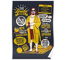 The Dude Quotes Poster