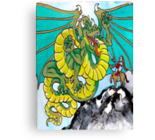 final fight (vertical) back Canvas Print