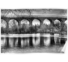 Viaduct at Reddish Vale Country Park Poster