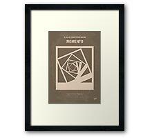 No243 My Memento minimal movie poster Framed Print