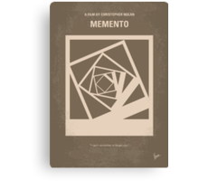 No243 My Memento minimal movie poster Canvas Print