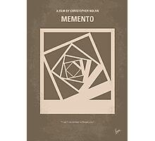 No243 My Memento minimal movie poster Photographic Print