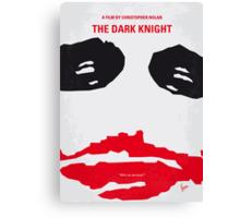 No245 My The Dark Knight minimal movie poster Canvas Print