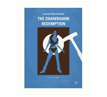 No246 My THE SHAWSHANK REDEMPTION minimal movie poster Art Print