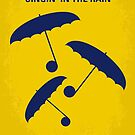 No254 My SINGIN IN THE RAIN minimal movie poster by Chungkong