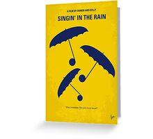 No254 My SINGIN IN THE RAIN minimal movie poster Greeting Card