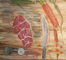 Preparing Dinner- The Cutting Board by tusitalo