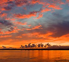 panoramic sunset in the Guadiana river by Pablo Romero