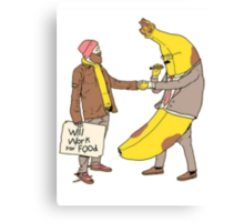 Will Work for Food Canvas Print