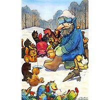 Winter fishing Photographic Print