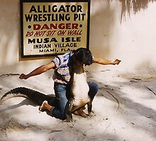 Aligator Wrestling by SlidingPhotos