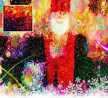 Abstract Santa Claus - greeting card by Scott Mitchell