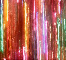 Christmas Light Abstract by Stephen Thomas