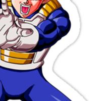 Dragon Ball Z Vegeta SSJ Sticker
