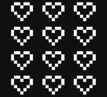 12 Pixel Hearts - White see-through by Autophobicat