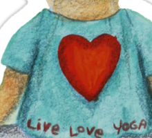 Camille Live Love Yoga Bear Sticker