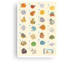 Animal Alphabet A-Z Canvas Print