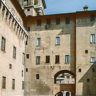 Moat of Este Palace Ferrara Italy 198404150075  by Fred Mitchell