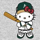 Hello Kitty Loves The Oakland Athletics! by endlessimages
