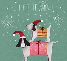 Nursery art - Let it snow! by Marikohandemade